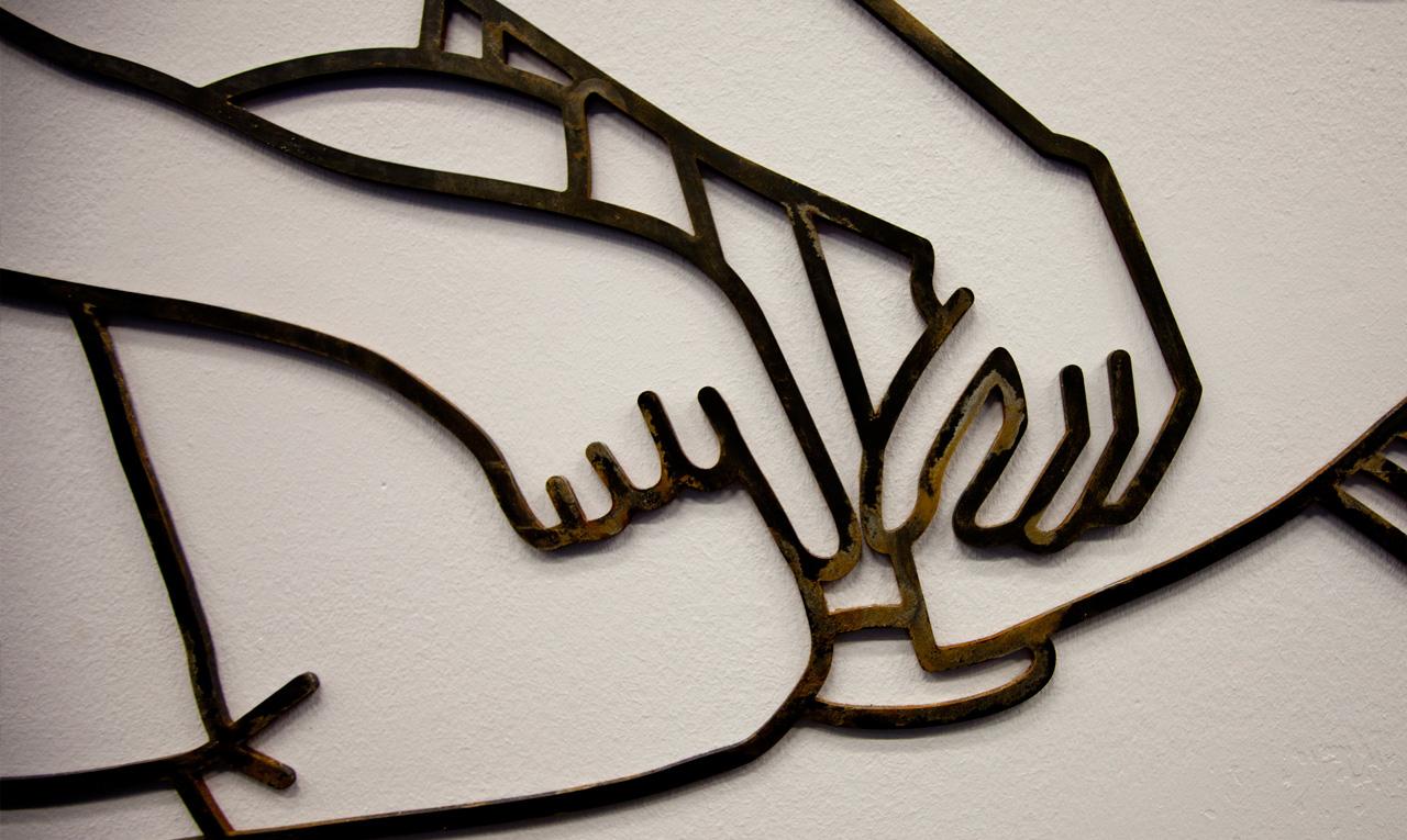 Detail | Mild steel, rust |280 x 322 x 0.4cm