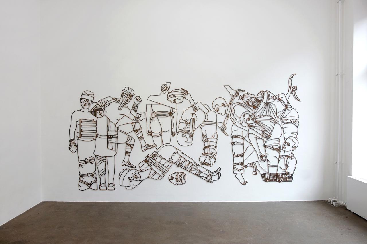Mild steel, Rust | 183 x 422 cm | Installation view, Aando Fine Art | 2012