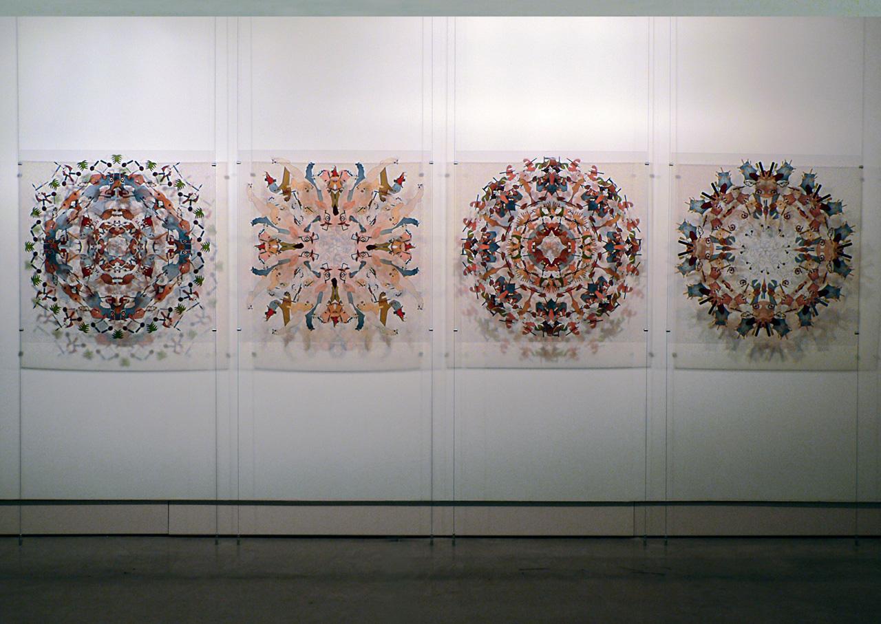 4 Prints on transparent foil | 100 x 100 cm each | Installation view, Petach Tikva Museum of Art, Petach Tikva, 2006