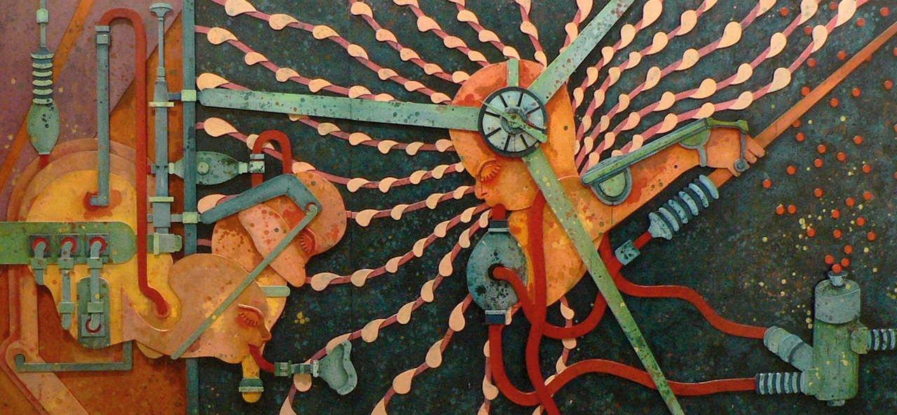 Mixed media on plywood, 6 plates | 167.4 x 1037.5 x 7.5cm |Installation views, ART HK 10, Hong Kong | 2010