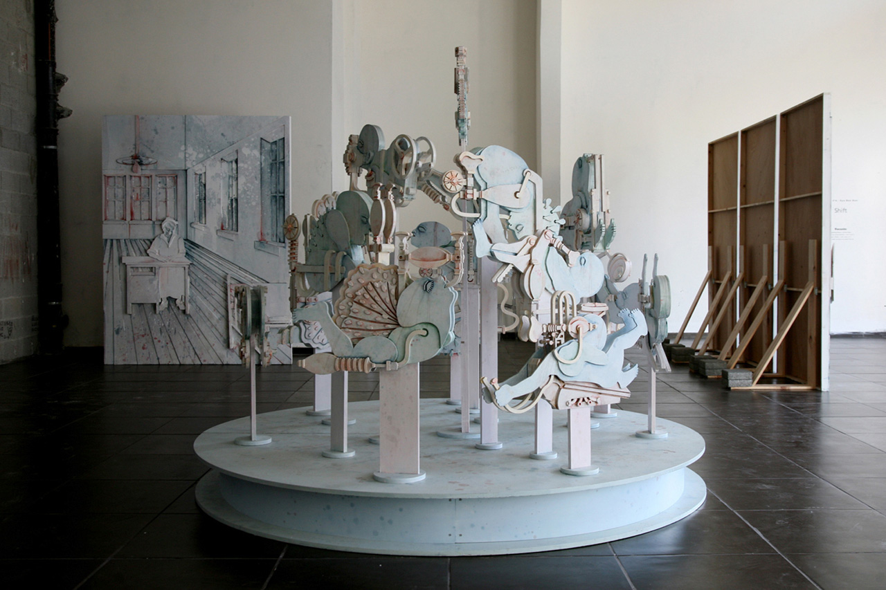 Still-Life | Mixed media on plywood, 190 cm in height, 240 cm in diameter | Installation view, Parasite - Noga Star Project, Tel Aviv | 2010